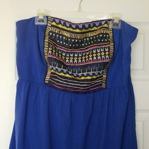 Embroidered High-low dress